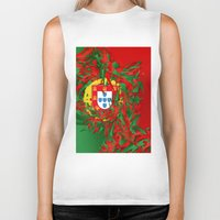 portugal Biker Tanks featuring Portugal by Danny Ivan