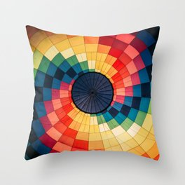 Colorful Sprial Throw Pillow