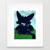toothless Framed Art Prints featuring Toothless by DaemonDeDevil