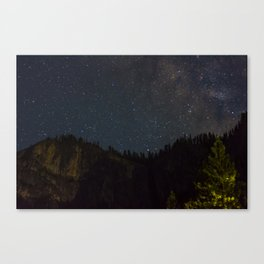 The Milky Way Above Yosemite Valley Canvas Print