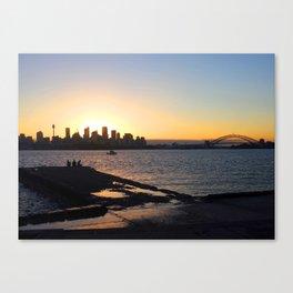 Sydney setting Canvas Print