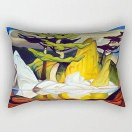 Red Rock Pool by Amanda Martinson Rectangular Pillow