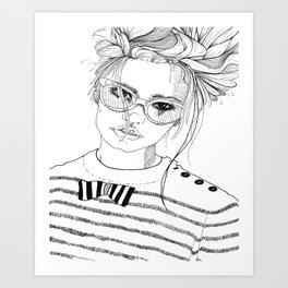 Stripe with Me Art Print