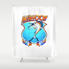 Virginia Wahoo Sabre Rattler Crest Shower Curtain