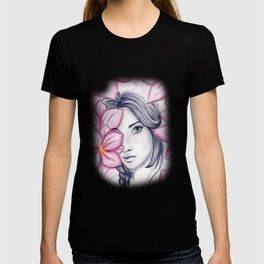 into flowers T-shirt