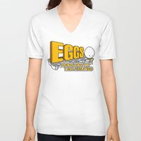 eggs V-neck T-shirts featuring Eggs! by Boots