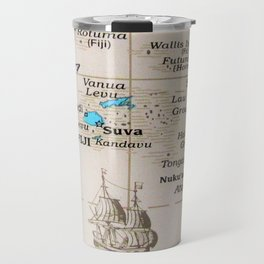 Map Art Fiji Travel Mug