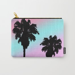 Pastel Sunset Palm Tree Silhouette Carry-All Pouch