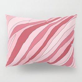 Pink abstract line Pillow Sham