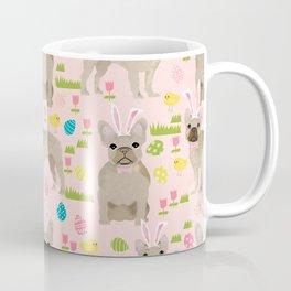 French Bulldog fawn coat easter eggs easter spring themed dog art pet portraits Coffee Mug