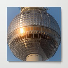 Berlin television tower (Fernsehturm), tv tower Metal Print