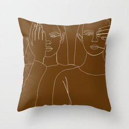 Fall Girls Throw Pillow