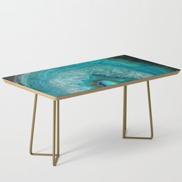 Teal Agate Coffee Table