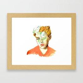 Breathe in the sea Framed Art Print