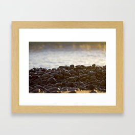 Beach Rocks Framed Art Print