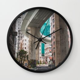 Hong Kong Street Bridge Wall Clock