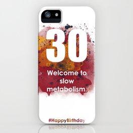 AgeIsJustANumber-30-SunriseSpotA iPhone Case