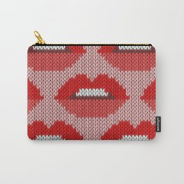 Lips pattern - pink Carry-All Pouch