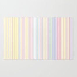 Happy Dream -Elegant Colorful stripe- Rug