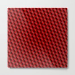 Baby Sharkstooth Sharks Pattern Repeat in Black and Red Metal Print