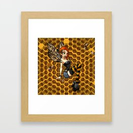 Pinup Honey Bee Framed Art Print