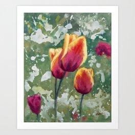 Tulips in my Garden Art Print