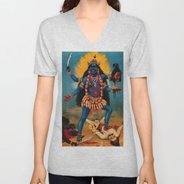 Kali - Hindu Unisex V-Neck