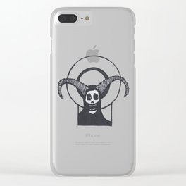 Sacred Horned Skull Clear iPhone Case