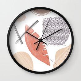 Abstract Art Shapes 7 design Wall Clock