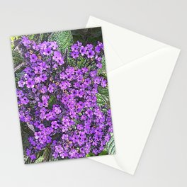 Spring floral blossom in lilac and green Stationery Cards