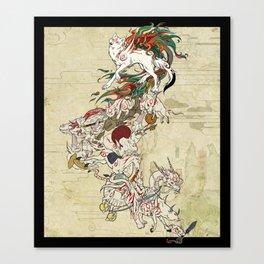 Okami Celestial parade Canvas Print