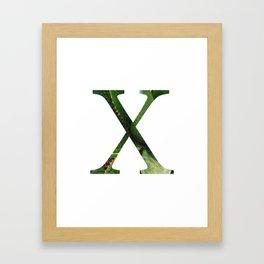 """Initial letter """"X"""" Framed Art Print"""