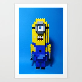 Despicable Me Minion in Lego Style Art Print