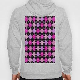 Pink Lavender Black Argyle Hoody