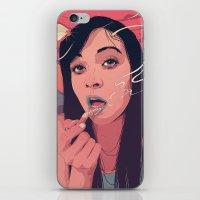 queen iPhone & iPod Skins featuring Moth Queen by Conrado Salinas