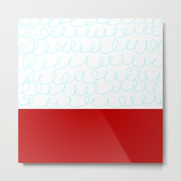 Red White Blue Waves Metal Print