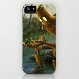 Rust,Rain, and Ribbits iPhone Case