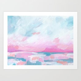 Euphoria - Bright Ocean Seascape Art Print