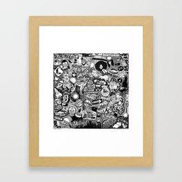 Detroit, Michigan Smorgasboard Framed Art Print