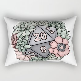 Succulent D20 Tabletop RPG Gaming Dice Rectangular Pillow