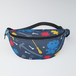Young Engineer - Blue, Red and Yellow Fanny Pack