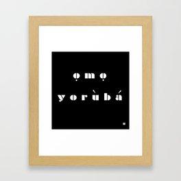 omo  Framed Art Print