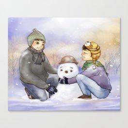 Do you wanna build a Snowman? Canvas Print