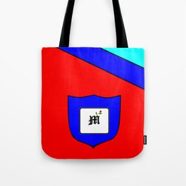 A Family Crest with a Capital Letter M, Mu Tote Bag