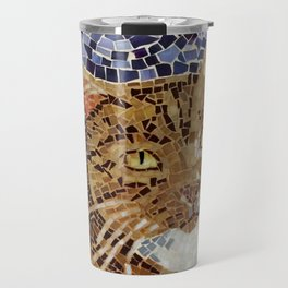 Tiger Cat - Stained Glass Mosaic Travel Mug