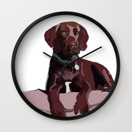 Labrador dog (chocolate) Wall Clock