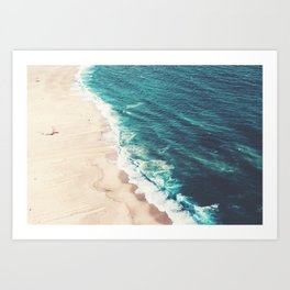 Beach Nazare Art Print