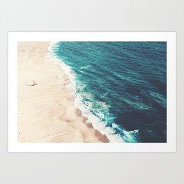 Beach Nazare Art Print