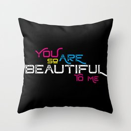 Beautiful CMYK Throw Pillow