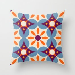 Cement tiles, gemoetric textures, patterns, southern Italy style Throw Pillow